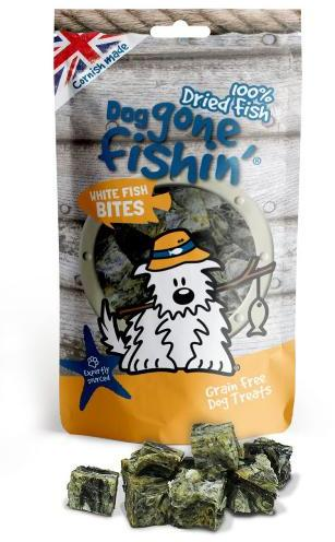 Dog Gone Fishin White Fish Bites Dog Treats