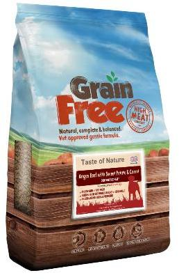 Taste of Nature Angus Beef Grain Free Dog Food 2kg