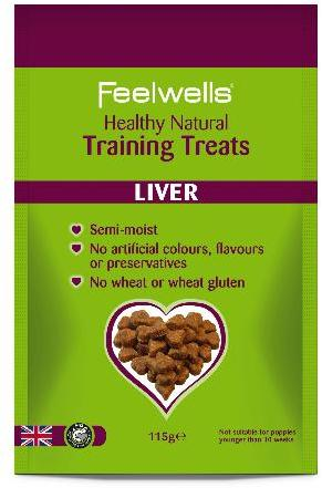 Feelwells Semi Moist Training Treats Liver 115g