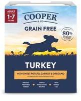 Cooper & Co Turkey 80% Meat Dog Food 10 x 400g Trays