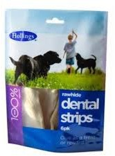 Hollings Dental Strips Dog Treats 6 Pack