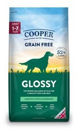Cooper & Co Glossy Lamb with lentils and rosemary 10kg dog food