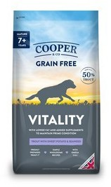 Cooper & Co Senior Trout with sweet potato and seaweed dog food 1.5kg