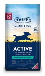 Cooper & Co Active Duck with pheasant and spinach Dog Food 1.5kg