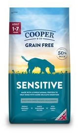 Cooper & Co Sensitive Duck with Sweet Potato Dog Food 1.5kg