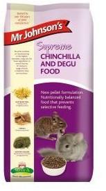 Mr Johnsons Supreme Degu and Chinchilla Pellets 900g