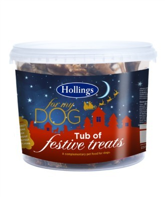Hollings Festive Tub of Treats for Dogs