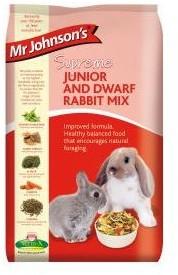 Mr Johnsons Supreme Junior and Dwarf Rabbit Food 900g