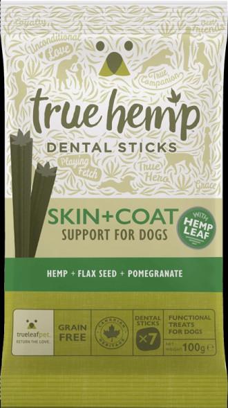 True Hemp Skin and Coat Dental Sticks for Dog's