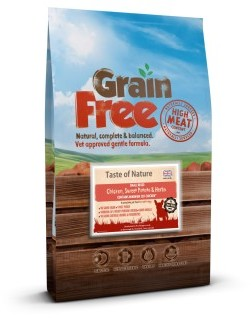 Taste of Nature Grain Free Chicken & Sweet Potato Small Bite 6kg