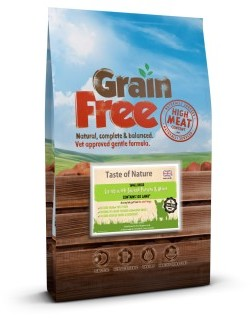 Taste of Nature Grain Free Lamb & Sweet Potato Small Bite 2kg