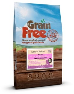 Taste of Nature Grain Free Salmon & Sweet Potato Small Bite 6kg