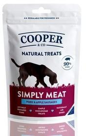 Cooper & Co Pork & Apple Sausages Dog Treats 100g x 10 packs