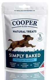 Cooper & Co Grain Free Peanut Butter Biscuits Dog Treats x 10 packs