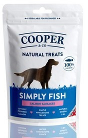 Cooper & Co Salmon Sausages Dog Treats x 8