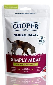 Cooper & Co  Chicken Sausage Bites Dog Treats x 8 packs