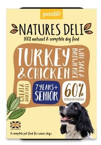 Natures Deli Turkey & Chicken with Sage and Brown Rice Senior Dog Food 400g