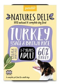 Natures Deli Turkey with Sage and Brown Rice Dog Food 400g