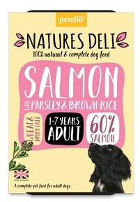 Natures Deli Salmon with Parsley and Brown Rice Dog Food 400g x 7