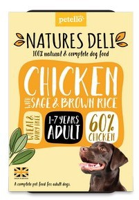 Natures Deli Chicken with Sage and Brown Rice Dog Food 400g x 7