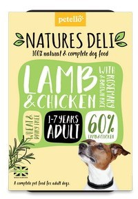 Natures Deli Lamb & Chicken with Rosemary and Rice Dog Food 400g