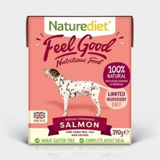 Naturediet Feel Good Salmon Dog Food 390g X 18