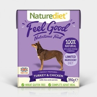 Naturediet Feel Good Turkey and Chicken Dog Food x 18