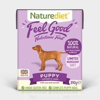 Naturediet Feel Good Puppy Food 390g X 18