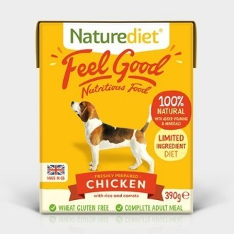 Naturediet Feel Good Chicken Dog Food 390g x 18