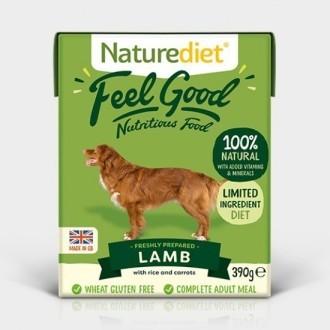 Naturediet Feel Good Lamb and Rice Dog Food 18 X 390g