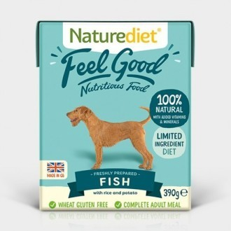 Naturediet Fee Good Fish and Rice Dog Food x 18