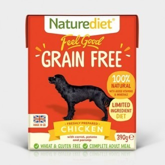 Naturediet Feel Good Chicken Grain Free  Dog Food x 18