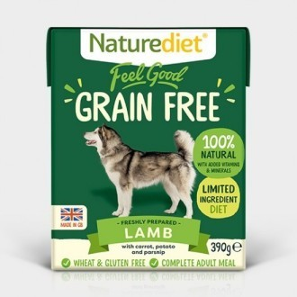 Naturediet Feel Good Lamb Grain Free  Dog Food x 18