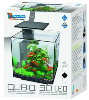 SuperFish QUBIQ 30 LED Aquarium Black