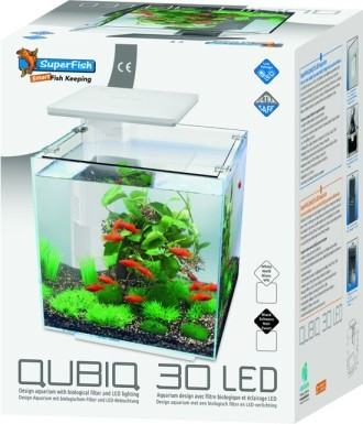 SuperFish QUBIQ 30 LED Aquarium White