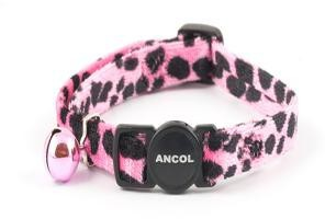 Ancol Cat Collar Pink Velvet Leopard