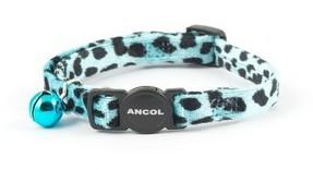 Ancol Cat Collar Turquoise Velvet Leopard