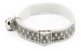 Ancol Cat Collar Gloss Heart Silver