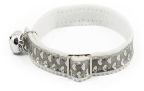 Ancol Cat Collar Gloss Heart Silver