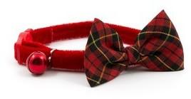 Ancol Safety Cat Collar Vintage Bow Tartan