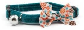 Ancol Safety Cat Collar Vintage Bow Teal