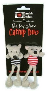 Danish Design Cat Toy Midge and Madge Catnip Duo