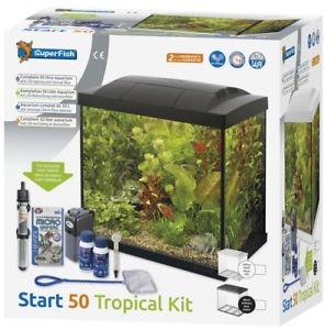 Superfish Start 50 Tropical Tank Set Black