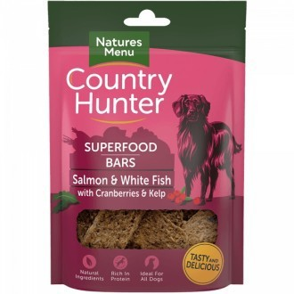 Country Hunter Superfood Bars Salmon & White Fish with Cranberries & Kelp
