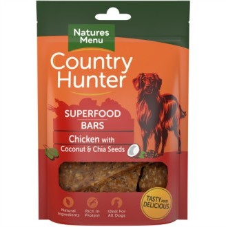 Country Hunter Superfood Bars Chicken with Coconut & Chia Seeds