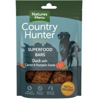 Country Hunter Superfood Bars Duck with Carrot & Pumpkin Seeds