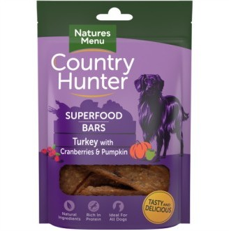 Country Hunter Superfood Bars Turkey with Cranberries & Pumpkin