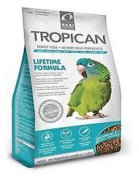 Living World Tropican Lifetime Parrot Food 820g