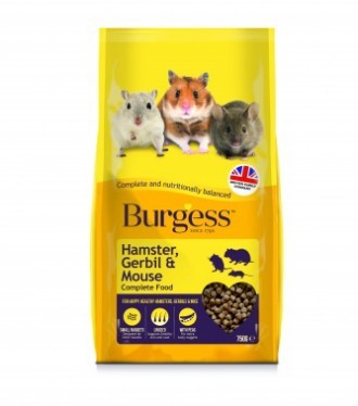 Burgess Hamster, Gerbil & Mouse Food 750g