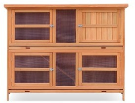 Harrisons Cartmel Double Height Hutch natural with pull out trays 150x60x118cm